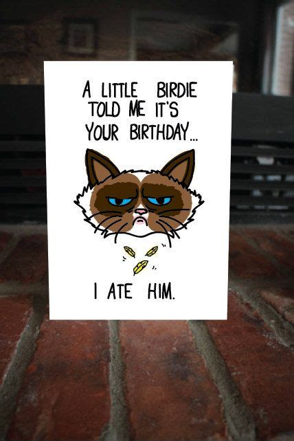Meme Birthday Card - grumpy cat birthday card meme bday sarcastic
