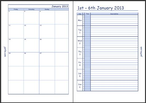 printable planner with time weekly calendar printable with time slots calendar