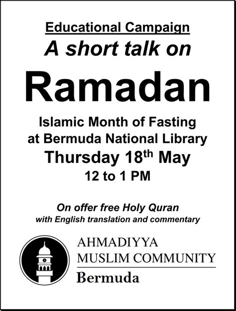 fasting month presentation on ramadan month of fasting bernews