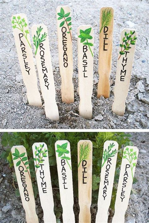 Gardens Herbs Garden And Hand Painted On Pinterest Vegetable Labels For Garden