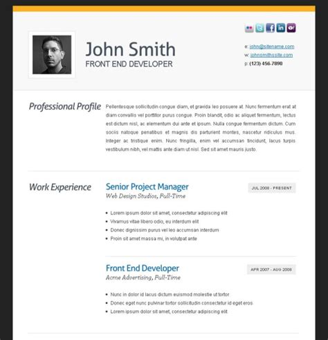 Photo Resume Template by Varieties Of Resume Templates And Sles