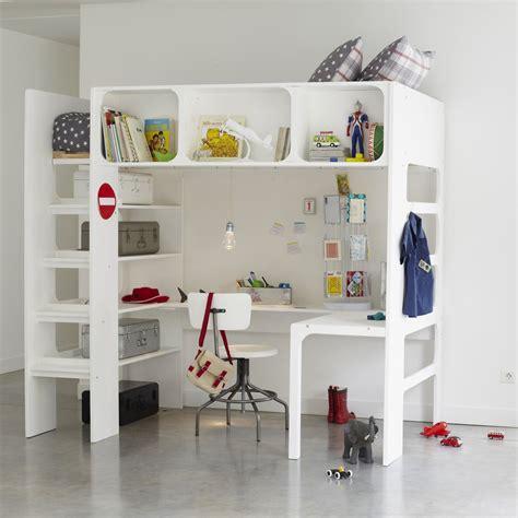 lit enfant mezzanine bureau la redoute lit bureau et commode gain de place bcn