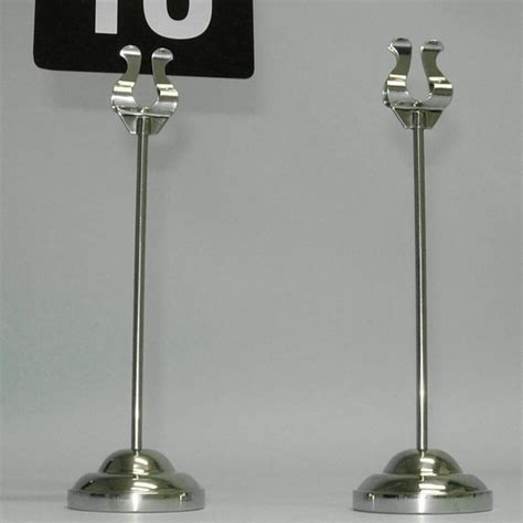 harp table number holders silver harp style table number holder card holder menu