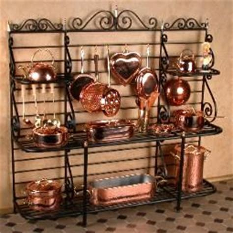 Bakers Rack With Pot Hooks 17 Best Images About Dollhouses And Miniatures On