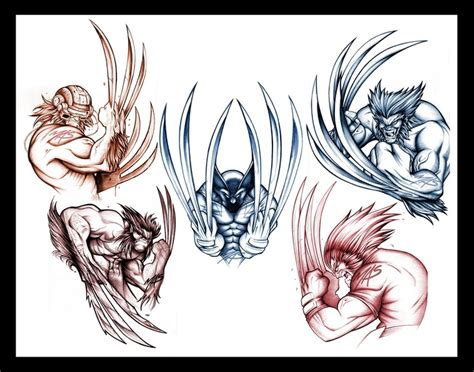 wolverine tattoo sketch concepts i whipped up wolverine