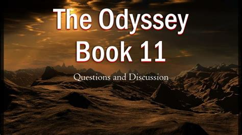 the odyssey book report ppt the odyssey book 11 powerpoint presentation id 2228135
