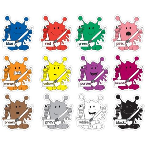 monsters colors colour splat monsters set of 12 signs school signs