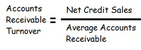 Formula For Credit Sales Accounts Receivable Turnover