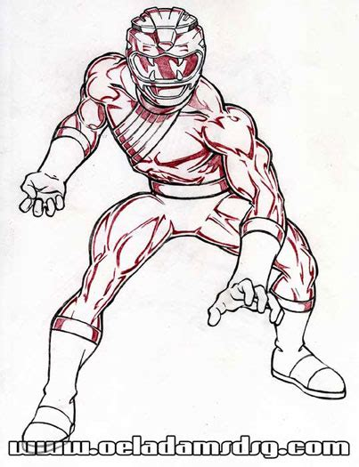 free coloring pages of wild force red ranger