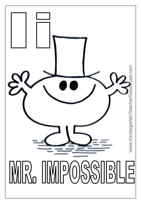 Letter Mister mr happy coloring pages