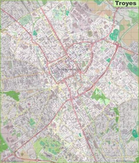 troyes map troyes maps maps of troyes