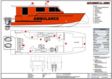 Ambulance Boat 10 M new sabrecraft marine ambulance rescue boat 11000m tri