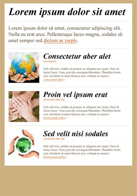 non profit newsletter template associations and nonprofits newsletter templates email