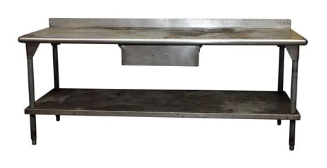 Metal Kitchen Prep Table Industrial Metal Kitchen Prep Table Olde Things