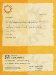 Certification Of Gift Letter Sample Of Gift Certificate Stationery Used For Friends