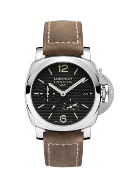 Panerai Power Reserve Silver Brown Leather Automatic pam00537 panerai 1950 gmt power reserve essential watches
