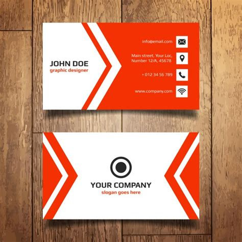 template for business name card red business card template vector free download