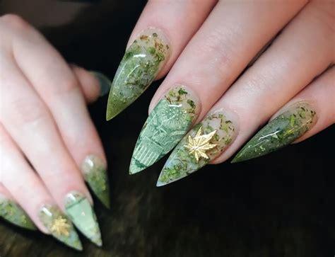 imagenes de weed reales weednails u 241 as con hojas de marihuana reales decoraci 243 n