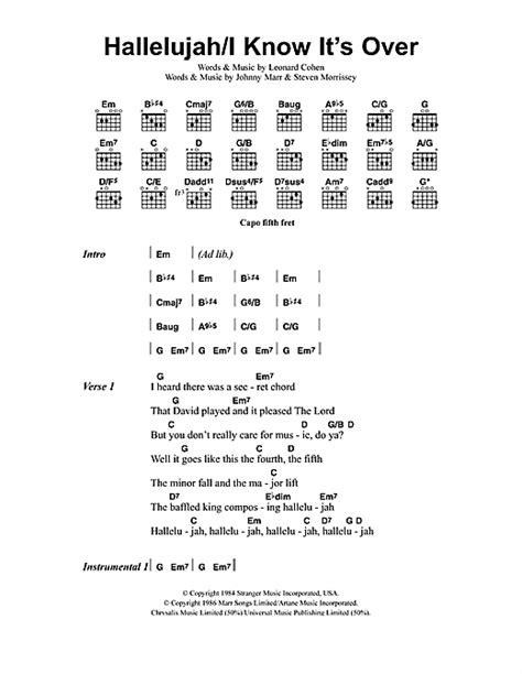 printable hallelujah lyrics jeff buckley hallelujah i know it s over sheet music by jeff buckley