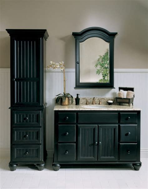 black bathroom vanity set black bathroom vanity set i love the side piece for