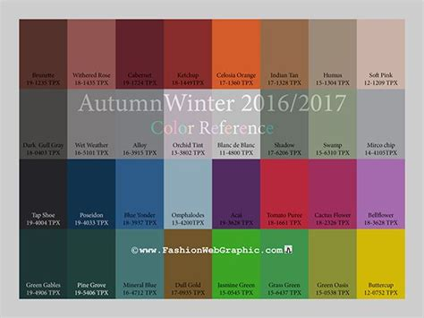 fall 2017 colors pantone aw2016 2017 trend forecasting a w 2016 17 trends