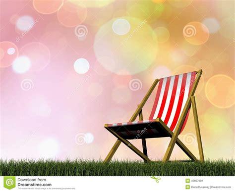 chaise de relaxation  rendent illustration stock illustration du vacances jardin
