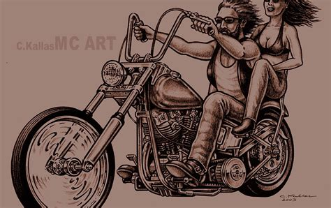 chopper tattoo mc motorcycle