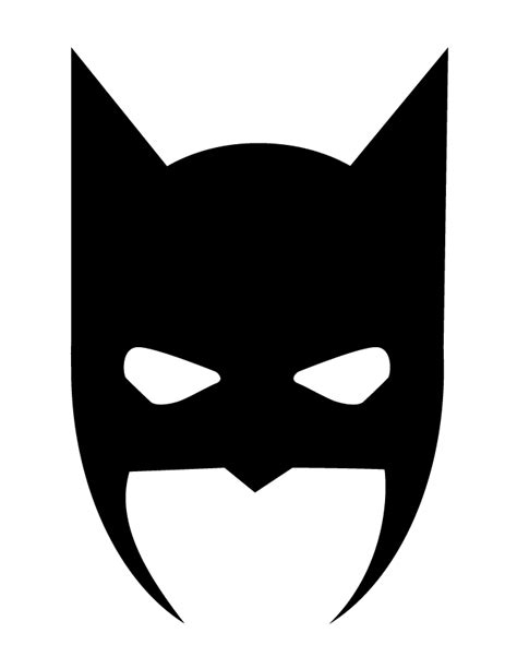 batman mask halloween silhouette h m coloring pages