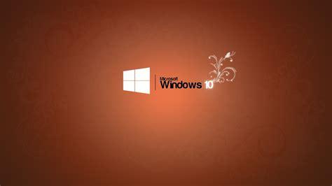 Microsoft Windows 10 microsoft windows 10 logo orange background wallpaper