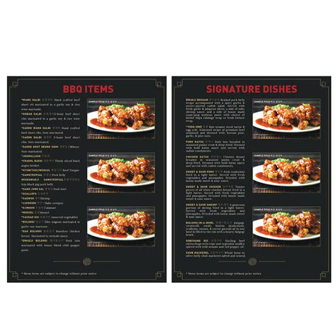 menu design korean elegant playful menu design for hoban korean bbq llc by