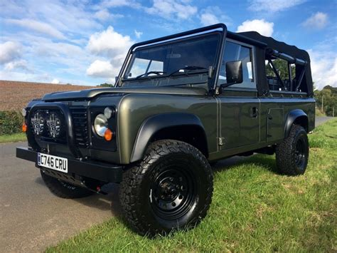 land rover defender black black exmoor 1986 land rover defender offroad for sale