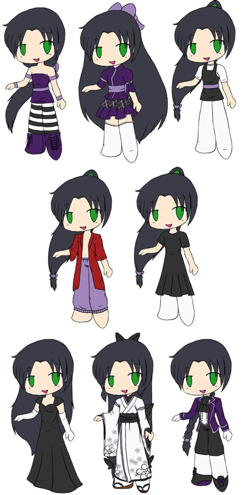 Chibi Shouren Outfits By Touchofdestiny On Deviantart How To Draw Chibi Boy Clothes Free
