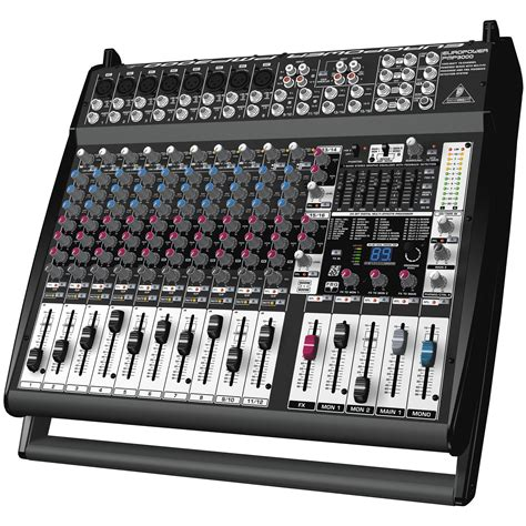 Mixer Behringer 16 Channel behringer pmp3000 16 channel powered mixer 1200 watts