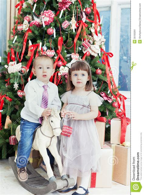 small boy and the girl stock image image 35150291