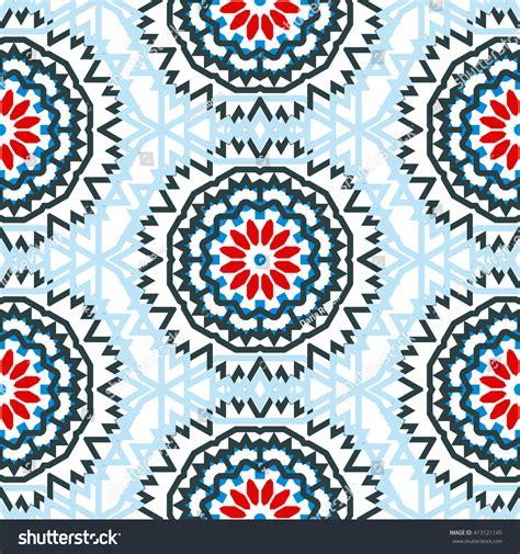 bohemian boho chic tribal trendy clothing aztec fuzzy slouchy vector tribal colorful bohemian pattern big stock vector