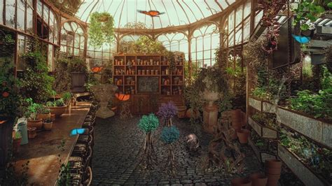 herbology classroom greenhouse asmr harry potter
