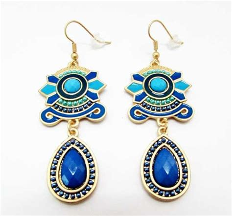 colorful earrings and colorful earring blue priyoshop