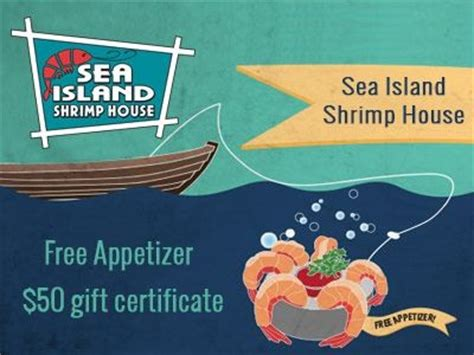 sea island shrimp house www shrimphouse com guest survey a free appetizer coupon for sea island shrimp