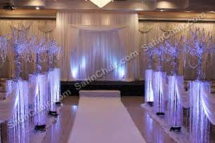 Satin Chair Covers Rent A Winter Wonderland Icicle Fairytale Lights Backdrop Wedding Amp Event Decor Ideas Chicago
