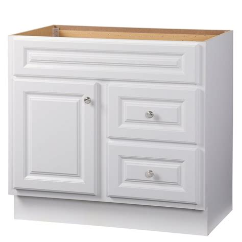 Hton Bay Bathroom Vanities Glacier Bay Hton 36 In W X 21 In D X 33 5 In H Bath Vanity Cabinet Only In White Hwh36d
