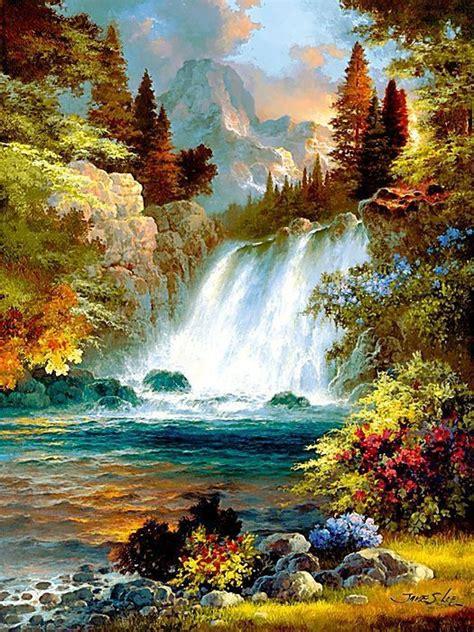 bob ross painting desert горный водопад схемы вышивки ludmila 53 авторы