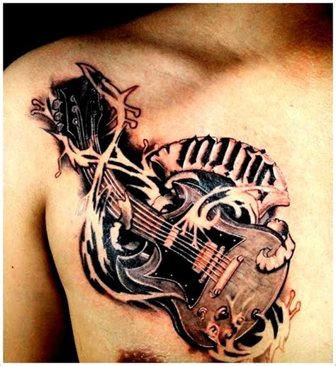 acoustic guitar tattoos designs guitar ideas for acoustic guitar tattoos bass