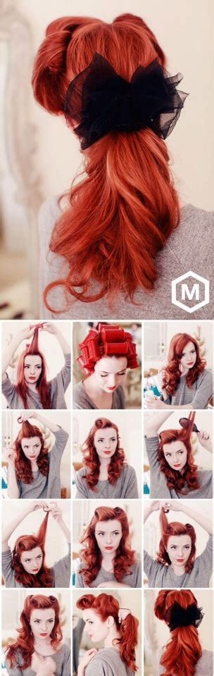 step by step vintage hairstyles 1940s pin up hair trusper