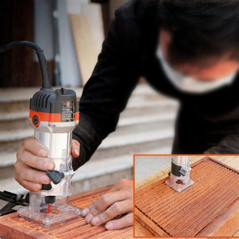 rpm electric hand trimmer router wood carving machine
