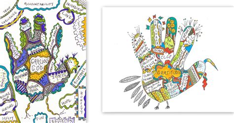 gratitude turkey template gratitude gobbler template praying in color