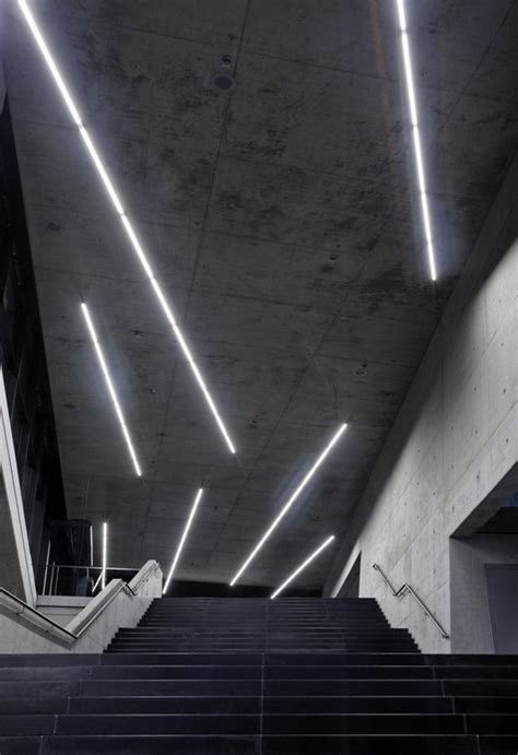 Neon Ceiling Lights Illumination Small Olympic Pfarr 233 Lighting Design Archdaily