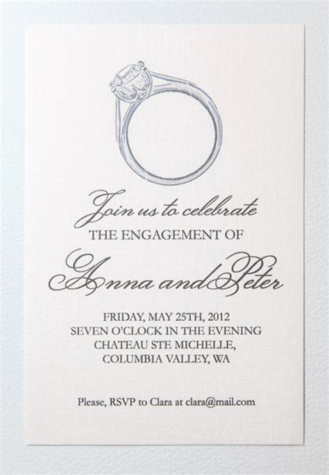 ring ceremony invitation card template free free printable engagement invitation