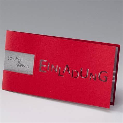 Einladungskarten Zur Silberhochzeit by Exzellente Einladungskarte Silberhochzeit Rot