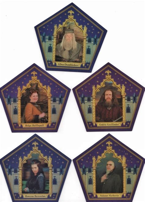 chocolate frog trading card template every harry potter chocolate frog cards from universal