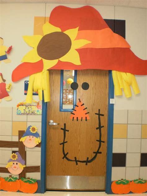 Fall Ideas For Classroom Door by Scarecrow Fall Classroom Door Decoration